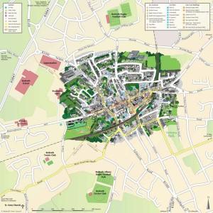 3D highlight town centre map