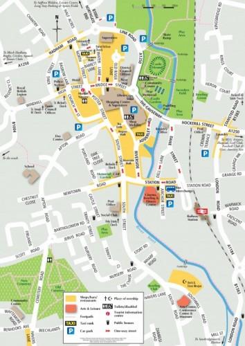 Bishop's Stortford - Town Centre Map