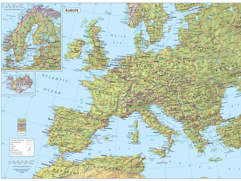 Europe environment map