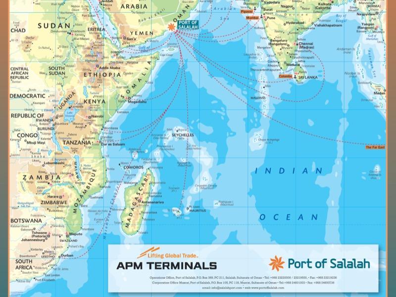 Port Of Salalah Location Map