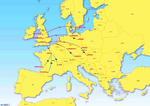 Europe Routes