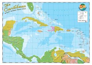 Caribbean A4 Map