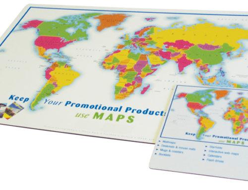 Desk Map Mats
