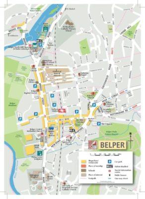 Map of Belper